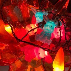 Vintage Easter Bunny Blow Mold String Lights